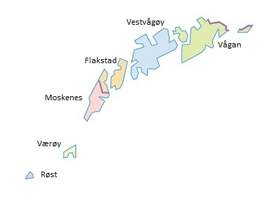 Kommunekart Lofoten