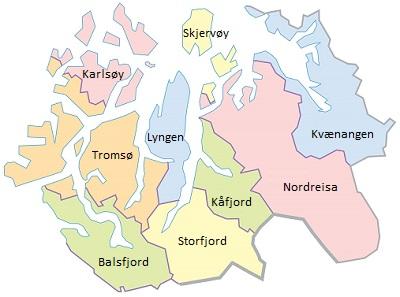 Kommunekart Nord-Troms