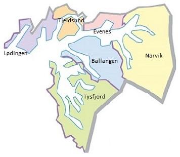 Kommunekart i Ofoten