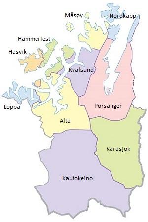 Kommunekart Vest-Finnmark