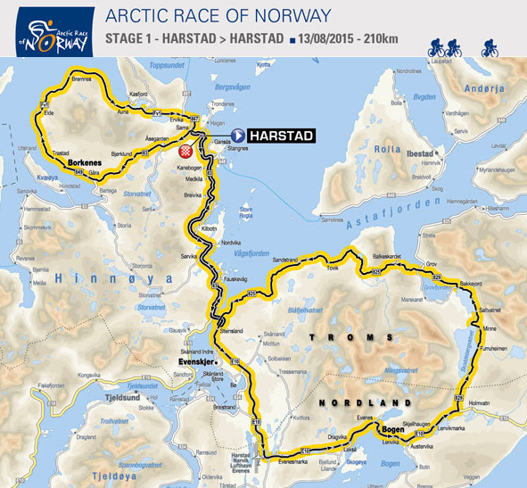 1. etappe Arctic Race of Norway 2015