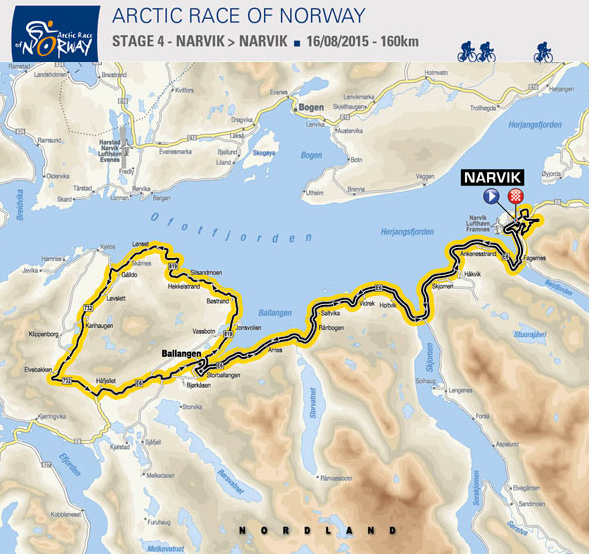 4. etappe Arctic Race of Norway 2015. Illustrasjon: www.letour.com