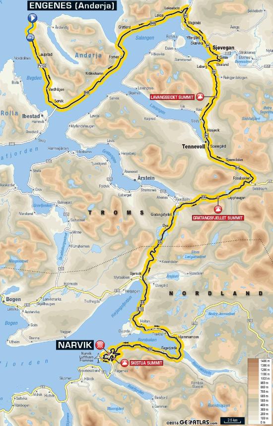1. Etappe Arctic Race 2017