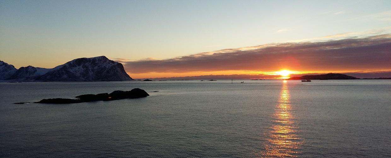 Vesterålen solnedgang