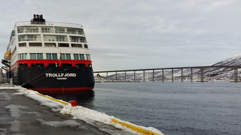 Trollfjord på Tromsø Havn